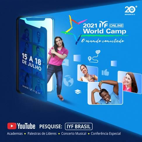 20º. Edição do  IYF World Culture Camp será apresentada pelo segundo ano consecutivo na modalidade on-line
